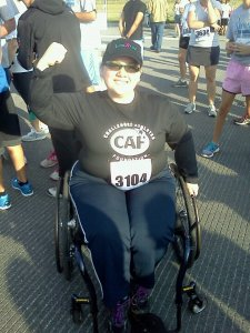 Pre-race photo before my first 5k on wheels
